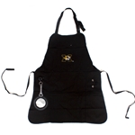 Mizzou Tiger Head Black Grilling Apron