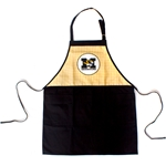 Mizzou Tiger Head Black & Gold Gingham Apron