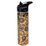 Mizzou Official Paisley Gold Water Bottle