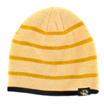 Mizzou Striped Gold Knit Beanie