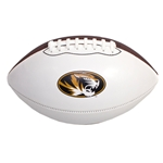 Mizzou Nike&reg Oval Tiger Head White Football