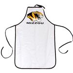 Mizzou Tiger Head White Apron