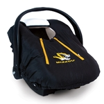 Mizzou Black & Gold Infant Carrier Cover