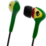 Skullcandy Rasta with Mic Smokin' Ear Buds