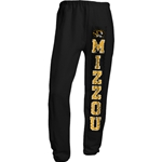 Mizzou Tiger Head Black Closed Bottom Sweatpants