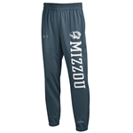 Mizzou Under Armour Charcoal Closed Bottom Sweatpants