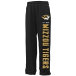 Mizzou Tigers Black Open Bottom Sweatpants