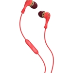 Skullcandy Wink'd Red Floral Earbuds with Mic