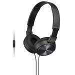 Sony ZX Series Black Over-Ear Headphones