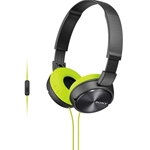 Sony ZX Series Lime Over-Ear Headphones