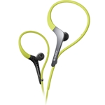 Sony In-Ear Green Sport Headphones with Adjustable Ear Loop