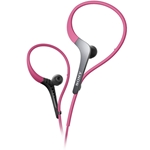 Sony In-Ear Pink Sport Headphones with Adjustable Ear Loop
