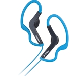 Sony Blue Sports Headphones with Ear Loop