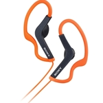 Sony Orange Sports Headphones with Ear Loop