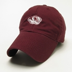 Mizzou Tiger Head Maroon Adjustable Hat