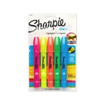 5 Pack Assorted Colors Sharpie Gel Highlighters