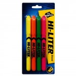 Hi-Liter Fluorescent Highlighters Pack of 4