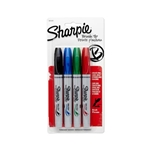 4 Pack Assorted Colors Sharpie Brush Tip Permanent Markers