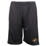 Mizzou Oval Tiger Head Charocal Athletic Shorts