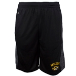 Mizzou Oval Tiger Head Black Athletic Shorts
