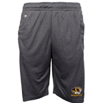 Mizzou Tiger Head Reflective Charcoal Athletic Shorts