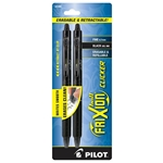 Black Pilot FriXion Clicker Retractable Erasable Fine Point Gel Pens