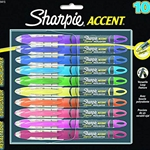 10 pack Assorted Colors Sharpie Accent Pen Style Liquid Highlighters