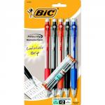 Bic Velocity Assorted Mechanical Pencil Set of 5 with Refill Lead & Erasers
