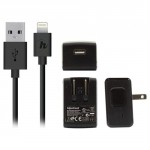 Hipstreet iPad/iPhone/iPod Lightning Home AC Charger Power Kit
