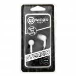 Wicked Audio Sycron White In-Ear Headphones