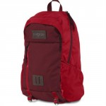 JanSport Foxhole Viking Red & Red Tape Backpack