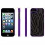 Griffin Purple & Black Zebra Print Layered Case for iPhone 5
