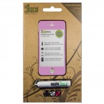 JucePeel Color Glass Pink Screen Protection Kit for iPhone 4/4S