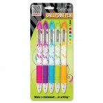 Zebra Z-Grip Daisies Retractable Ball Point Pens Pack of 5