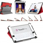 Touchfire Ultra-Protective Red Case & 3-D Keyboard for iPad mini 1, 2, 3