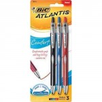 BIC Atlantis Comfort Retractable Ballpoint Pen 3-Pack