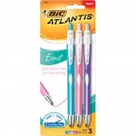 BIC Atlantis Exact Retractable Ballpoint Pen 3-Pack