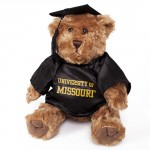 "University of Missouri 10"" Graduation Stuffed Bear with Cap & Gown"