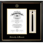 University of Missouri Petite Black Foil Seal Diploma Frame with Tassel Box