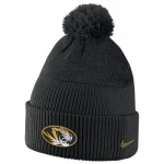 Mizzou Nike&reg 2016 Reflective Black Cuffed Beanie with Pom