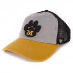 Mizzou Grey, Black & Gold Stretch-Fit Trucker Hat