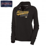 Mizzou Tigers Women's Black 1/4 Sweatshirt
