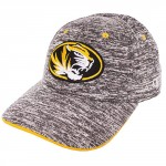 Mizzou SEC Oval Tiger Head Charcoal Stretch-Fit Hat