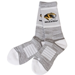 Mizzou Tiger Head Grey Socks