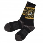 Mizzou Oval Tiger Head Black & Gold Socks