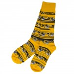 Mizzou Tiger Head Gold & Black Socks