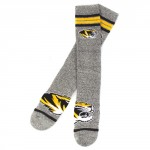 Mizzou Tiger Head Grey Mid-Calf Socks