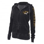 Mizzou Lucky Soul Women's Black Full Zip Hoodie