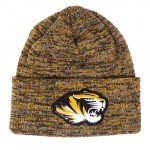 Mizzou Tiger Head Black & Gold Cuffed Knit Beanie