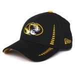Mizzou Oval Tiger Head Black & Gold Adjustable Hat